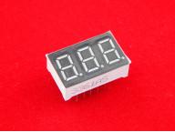 """Трехразрядный цифровой индикатор (общий катод, красный, 0.32"""")"""