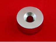 Неодимовый магнит N35 (D 40мм х 20 мм, Отверстие: 10 мм)