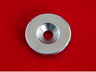 Неодимовый магнит N35 (D 25мм х 5 мм, Отверстие: 5 мм)