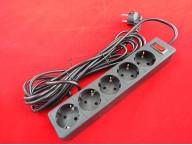 Сетевой фильтр Defender ES 5 - 5 М, 5 розеток черный