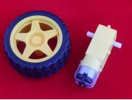 Двигатель 1:40 с колесом