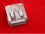 РАЗЪЁМ гнездо на плату USB-A (металл)