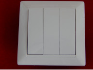 Выключатель С05 10-805 трехклавишный скрытой установки