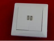 Выключатель С5 10-815 двухклавишный со световой индикацией скрытой установки
