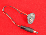 Клемма для 9В батареи со штекером питания 2.1х5.5х14мм