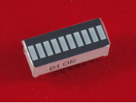 10-сегментный зеленый светодиодный индикатор