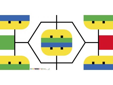 Поле World Robot Olympiad (WRO) 2017 для младшей возрастной категории