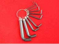 Набор шестигранных ключей Hex, 1,5-10 мм, CRV. 10шт., Оксидированные, на кольце Sparta